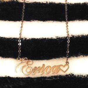 "Jewelry - ✨Empty Heart Cursive ""Erica"" Rose Gold Necklace🥀✨"